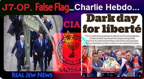 MOSSAD Y CIA INVOLUCRADAS EN ATENTADOS EN FRANCIA - CHARLIE HEBDO