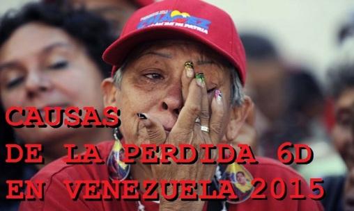 VERDADERAS CAUSAS DE LA PERDIDA DE LA REVOLUCION EN VENEZUELA 6D 2015