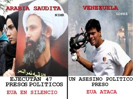 EUA CRITICA FERREAMENTE A PAISES LIBRES COMO VENEZUELA PERO ALABA A ARABIA SAUDITA