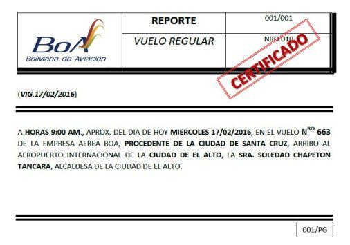 REPORTE VUELO
