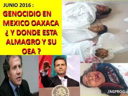 GENOCIDIO MEXICO JUNIO2016