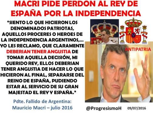 MACRI PERDON ESPAÑA
