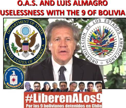 OAS AND LUIS ALMAGRO USELESSNESS WITH THE 9 OF BOLIVIA