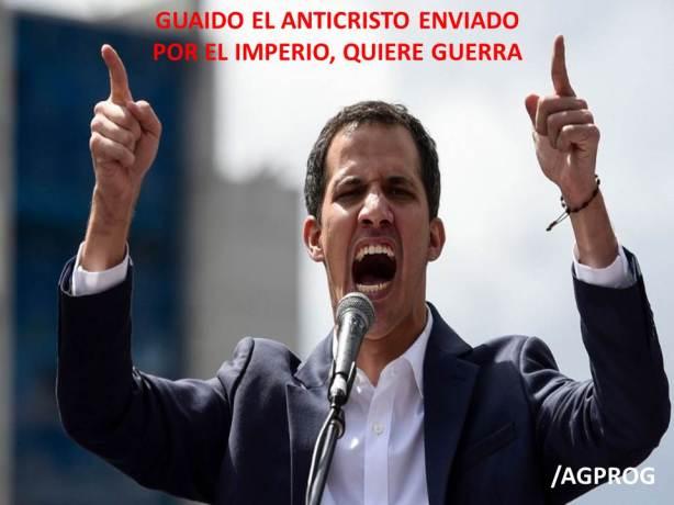 GUAIDO EL PAYASO ANTICRISTO EXIGE A EEUU CONSIDERAR LA CARTA DE LA GUERRA CONTRA VENEZUELA