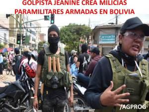 GOLPISTA JEANINE AÑEZ CREA MILICIA PARAMILITAR EN BOLIVIA